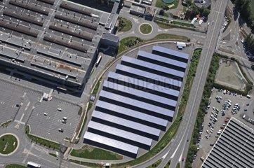 Solar park site Peugeot Citroën Montbeliard France