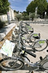 Station self-service bicycle Veloc Montelimar France