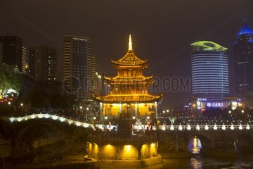 Capital city of Guiyang at night - Guizhou China
