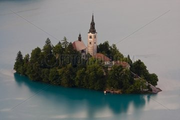 Church of the Assumption on Lake Bled in Slovenia