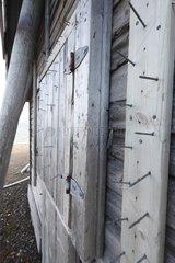 Nails bear-proof storage hut on Spitsbergen Svalbard