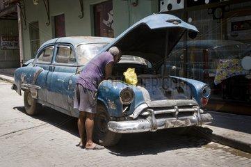 In the old city La Habana Cuba