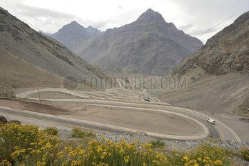 International Road to Argentina at Portillo  Los Andes  V Valparaiso Region  Chile