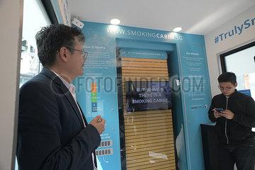 SINGAPORE-SMOKING CABIN-LAUNCHING