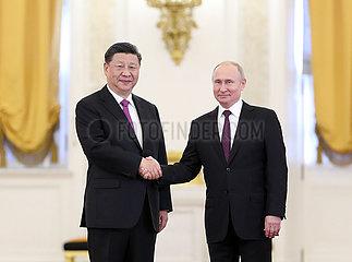RUSSIA-MOSCOW-CHINA-XI JINPING-VLADIMIR PUTIN-TALKS