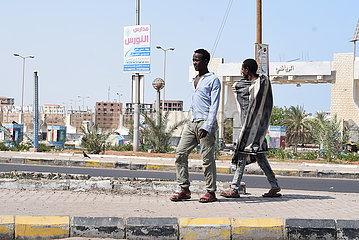 JEMEN-ADEN-ILLEGAL afrikanische Einwanderer