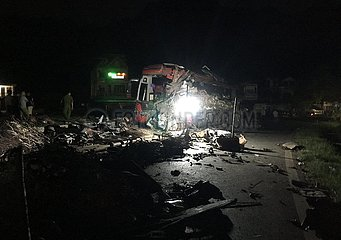 VIETNAM-Hoa Binh-Verkehrsunfall