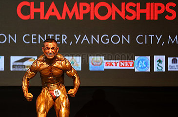 (SP)MYANMAR-YANGON-SOUTH EAST ASIAN 16TH BODYBUILDING & PHYSIQUE SPORTS CHAMPIONSHIPS 2019