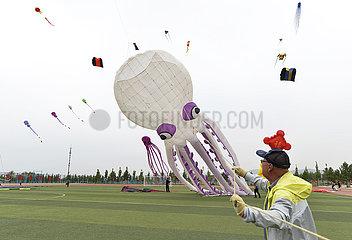 #CHINA-INNER MONGOLIA-BAOTOU-KITE FLYING CONTEST (CN)