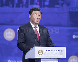 RUSSIA-ST. PETERSBURG-CHINA-XI JINPING-SPIEF-PLENARY SESSION