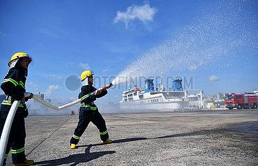 CHINA-HAINAN-HAIKOU-EMERGENCY DRILL(CN)