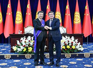 KYRGYZSTAN-BISHKEK-CHINA-XI JINPING-NATIONAL PRIZE