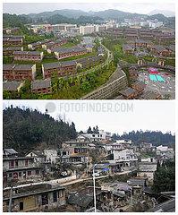 CHINA-GUIZHOU-YI ETHNIC GROUP-TOWN-RELOCATION-A-MEI QITUO (CN)