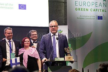 NORWAY-OSLO-LAHTI-EUROPEAN GREEN CAPITAL AWARD-CEREMONY
