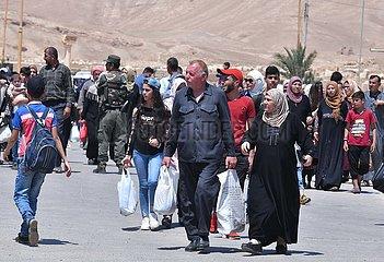 SYRIA-PALMYRA-CIVILIAN-RETURN