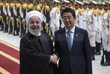 IRAN-TEHRAN-ROUHANI-JAPAN-ABE-VISIT