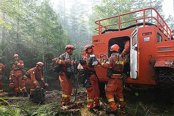 CHINA-INNER MONGOLIA-FOREST FIRE-FIREFIGHTERS (CN)
