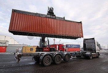 DEUTSCHLAND-HAMBURG-Sino-German TRADE-PROSPERITY  DEUTSCHLAND-HAMBURG-DEUTSCHE Logistiker-China-BUSINESS