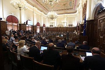LETTLAND-RIGA-neugew?hlten PRESIDENT