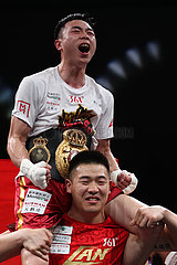 (SP)CHINA-FUZHOU-BOXING-WBA-FEATHERWEIGHT-XU CAN (CN)