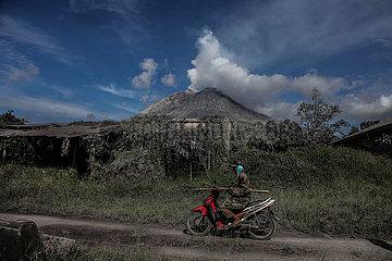 INDONESIA-NORTH SUMATRA-MOUNT SINABUNG-AFTER ERUPTION