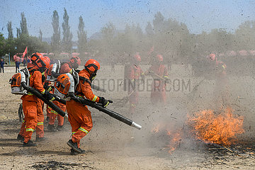 CHINA-HOHHOT-FIREMAN-TRAINING (CN)