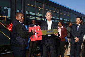 MOZAMBIQUE-MAPUTO-CHINA-BUS DONATION