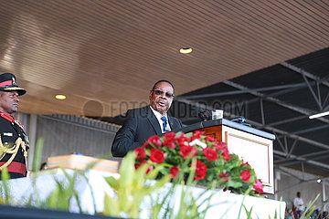 MALAWI-BLANTYRE-NEWLY-ELECTED PRESIDENT-PETER MUTHARIKA-SWEARING IN