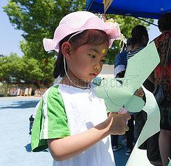 CHINA-ZHEJIANG-CHANGXING-CHILDREN-Scherenschnitt (CN)