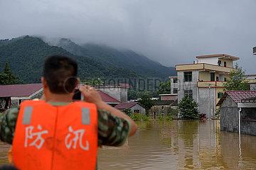 CHINA-JIANGXI-YONGXIN COUNTY-HEAVY RAIN-FLOOD (CN)