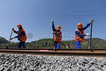 CHINA-SHAANXI-Yichuan-COAL RAIL-ABGESCHLOSSEN (CN) CHINA-SHAANXI-Yichuan-COAL RAIL-ABGESCHLOSSEN (CN)