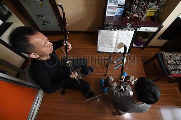 CHINA-GANSU-MUSICAL INSTRUMENTS-ERHU (CN)