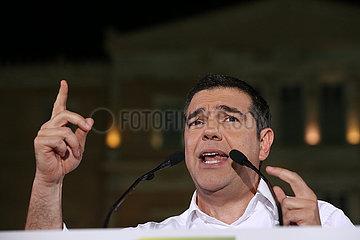 Greece-Athens-Tsipras-PRE-WAHL-sammlungs () Griechenland-Athens-TSIPRAS- PRE-Wahl- SAMMLUNG