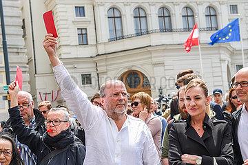 AUSTRIA-VIENNA-SNAP ELECTION-RALLY