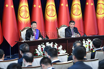 KYRGYZSTAN-BISHKEK-CHINA-PRESIDENTS-TALKS