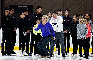 (SP)CHINA-BEIJING-FIGURE SKATING-TRAINING-BRIAN ORSER-TRACY WILSON (CN)