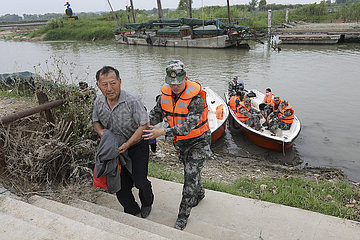 #CHINA-JIANGSU-HUAI'AN-FLOOD EVACUATION DRILL (CN)