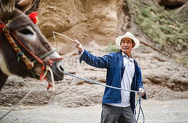 CHINA-GANSU-Jingtai-ESEL FAHRT-Business (CN)