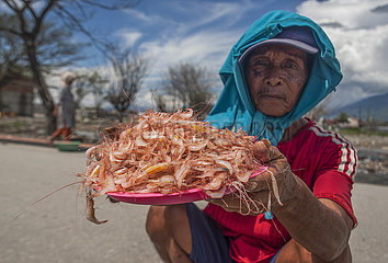 INDONESIA-PALU-DRIED SHRIMP-DAILY LIFE