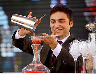 CZECH REPUBLIC-PRAGUE-NON-ALCOHOLIC COCKTAIL CONTEST