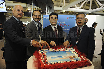 ITALY-ROME-CHINA-HANGZHOU-AIR CHINA-DIRECT FLIGHT-INAUGURATION