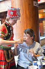 #CHINA-GUIZHOU-ZUNYI-GELAO ETHNIC GROUP-BANQUET(CN)