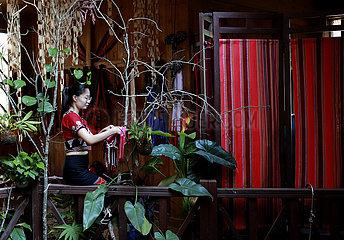 CHINA-YUNNAN-WA ethnische Gruppe-WEAVING EXPERIENCE WORKSHOP (CN) CHINA-YUNNAN-WA ethnischer Gruppe-WEAVING EXPERIENCE WORKSHOP (CN) CHINA-YUNNAN-WA ethnischer Gruppe-WEAVING EXPERIENCE WORKSHOP (CN)
