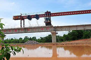 LAOS-NAM KHONE SUPER MAJOR BRIDGE-CONSTRUCTION