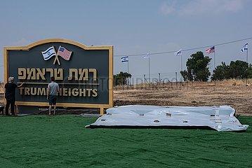 MIDEAST-Golan-SIEDLUNG-TRUMP