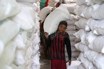 MYANMAR-YANGON-CHINA-REIS EXPORT