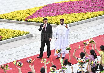 CHINA Beijing-XI jinping-nigerien president-Talk (CN)