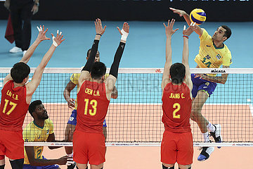 (SP)PORTUGAL-GONDOMAR-VOLLEYBALL-FIVB NATIONS LEAGUE-CHINA VS BRAZIL Brazil vs China - FIVB Volleyball Nations League