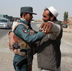 AFGHANISTAN-KANDAHAR-Sicherheitspr?fpunkt