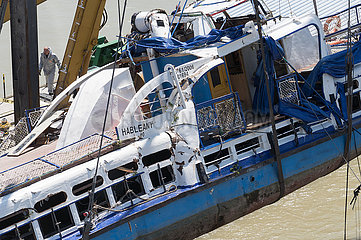 HUNGARY-BUDAPEST-BOAT ACCIDENT